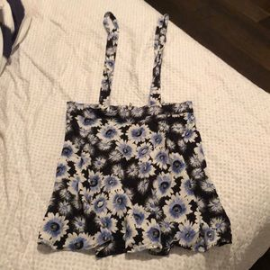 Aeropostale blue and white floral skirt